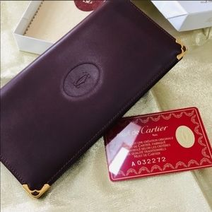 Authentic Cartier Long Wallet NWT